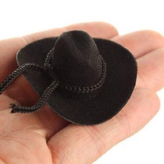 "2"" O.D. Velvet Like Cowboy Hat w/ Rope Trim"