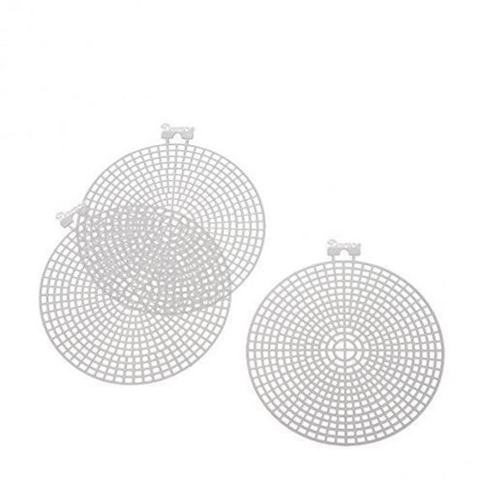 "4-1/2"" Round Plastic Canvas"