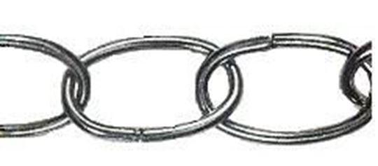 Oval Ornamental White Chain