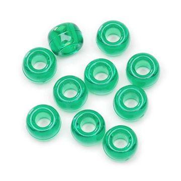 T-885 Xmas Green Pony Beads