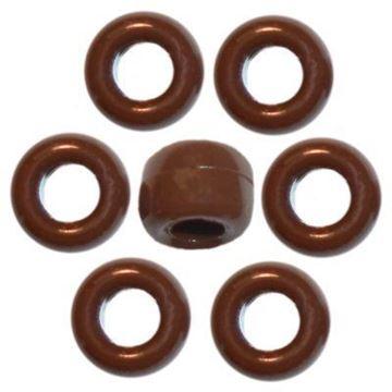 O-3203 Brown Pony Beads