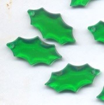 green holly beads