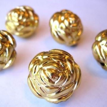 gold plated rose bud beads