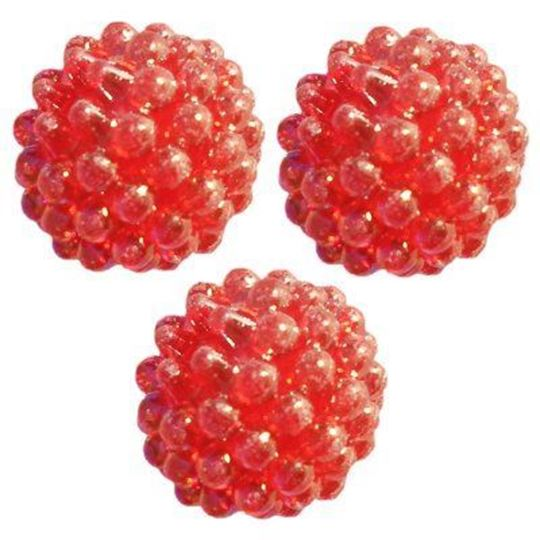 red berry beads