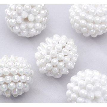white berry beads
