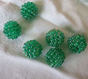 green berry beads