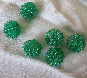 green berry beads