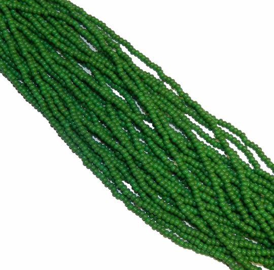 """green Czech Glass """"E"""" Bead"""