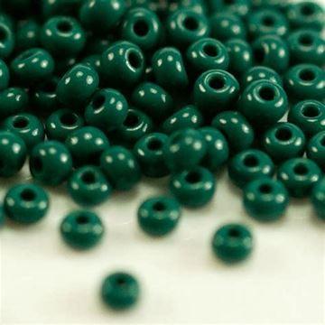 Dark Green Seed Beads