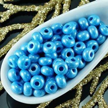 """Blue Czech Glass """"E"""" Beads"""