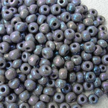 """Gray Czech Glass """"E"""" Beads"""