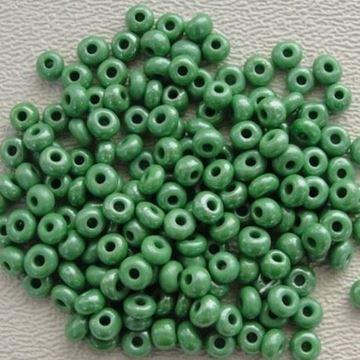 """Green Czech Glass """"E"""" Beadsq"""