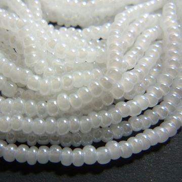 """Pearl Czech Glass """"E"""" Beads"""
