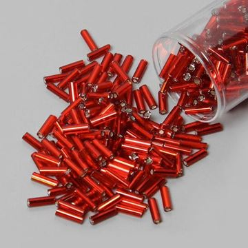 Red Bugle Beads