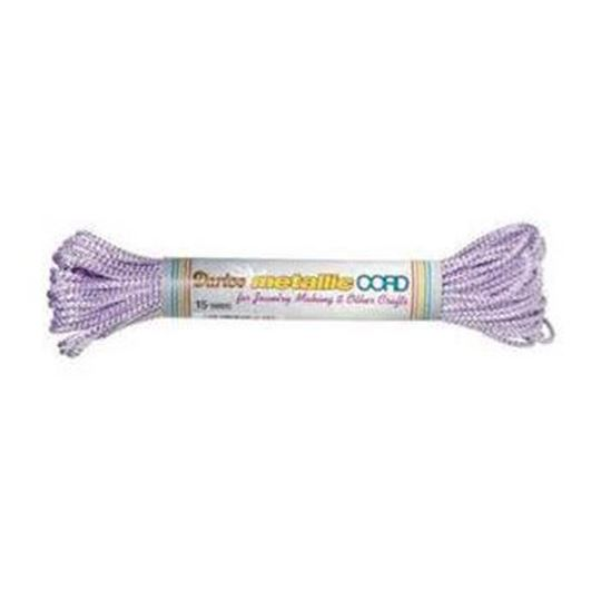 21 Purple/Silver Darice Metallic Cord