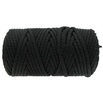 010 Black Braided Macrame Cord