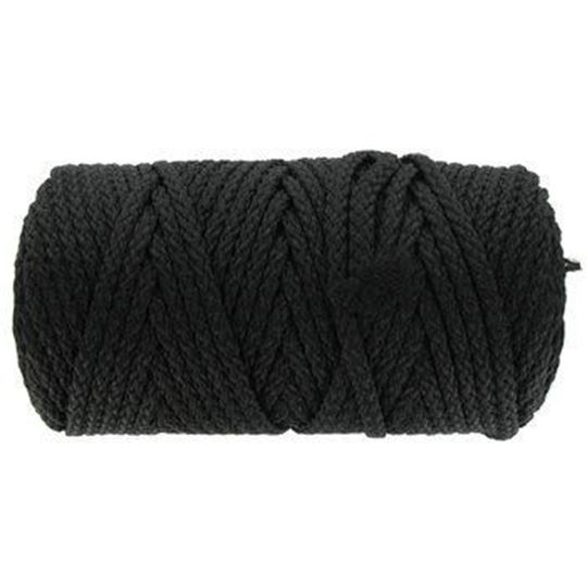 010 Black Braided Macrame Cord