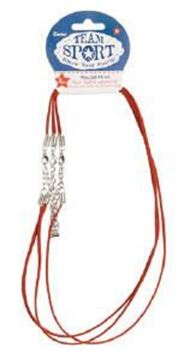 """Faux Suede 18"""" Red Necklace w/Extenders"""