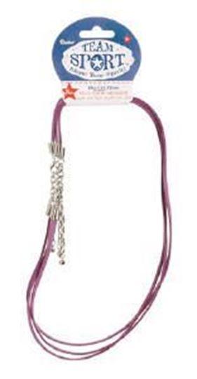 "Faux Suede 18"" Purple Necklace w/Extenders"