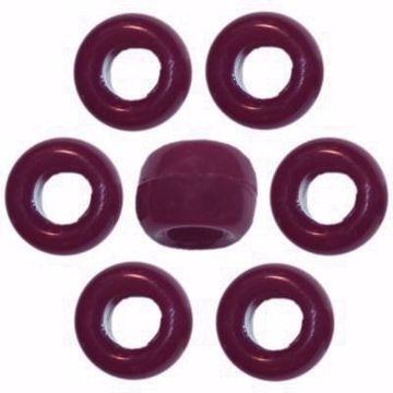 O-3893 Maroon Pony Beads