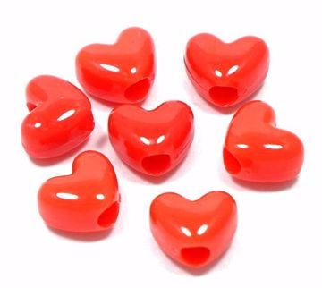 red heart pony beads
