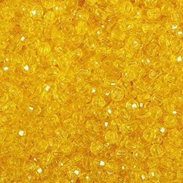 T-876 Acid Yellow Faceted Beads